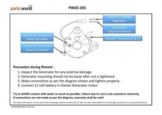 Buy Golf Cart Starter Generator, Generator for Yamaha Golf